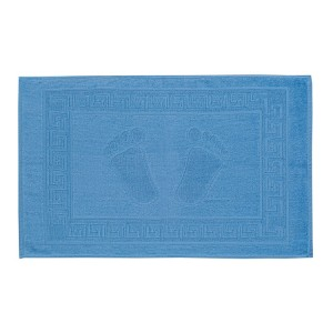 Covoras De Baie Cu Model Grecesc, Albastru, 50x70 CM